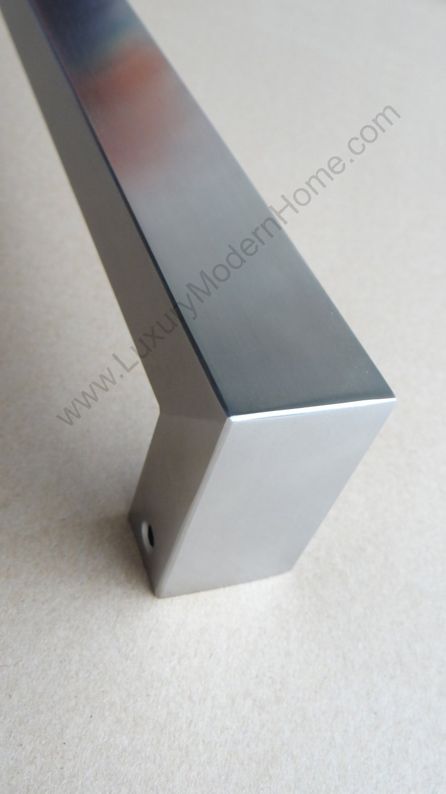 dh - 16'' Rectangular Tube Pull Shower Door Handle Square Stainless Steel 304