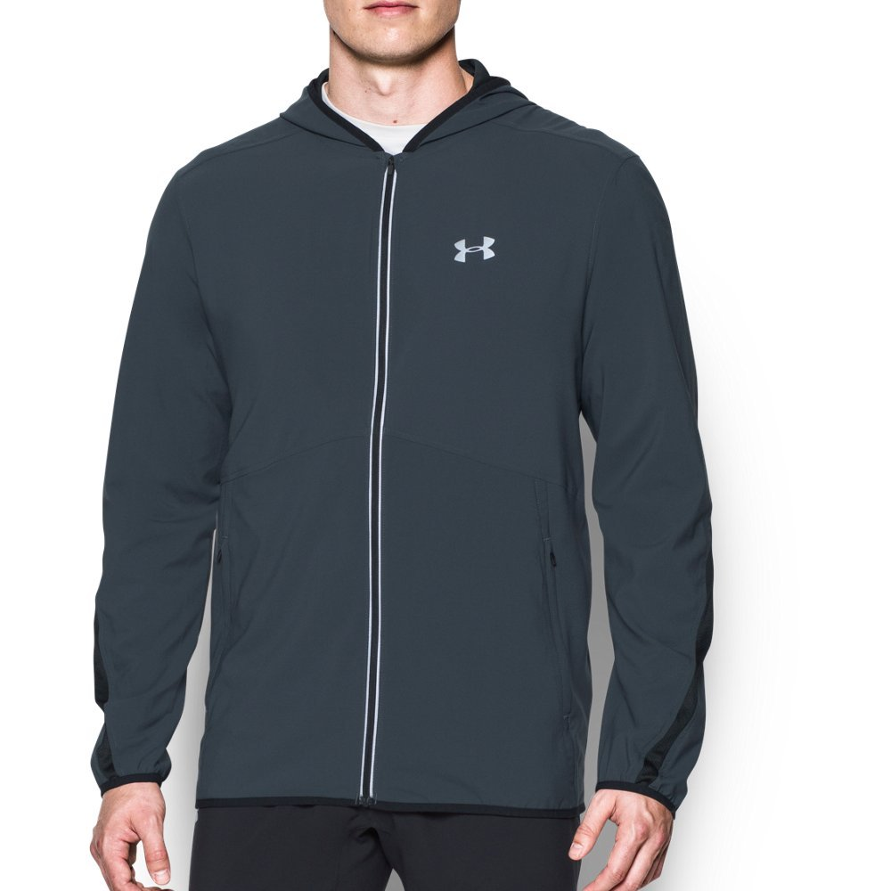 Men's Under Armour Run True SW Jacket, Stealth Grey/Black, 4X