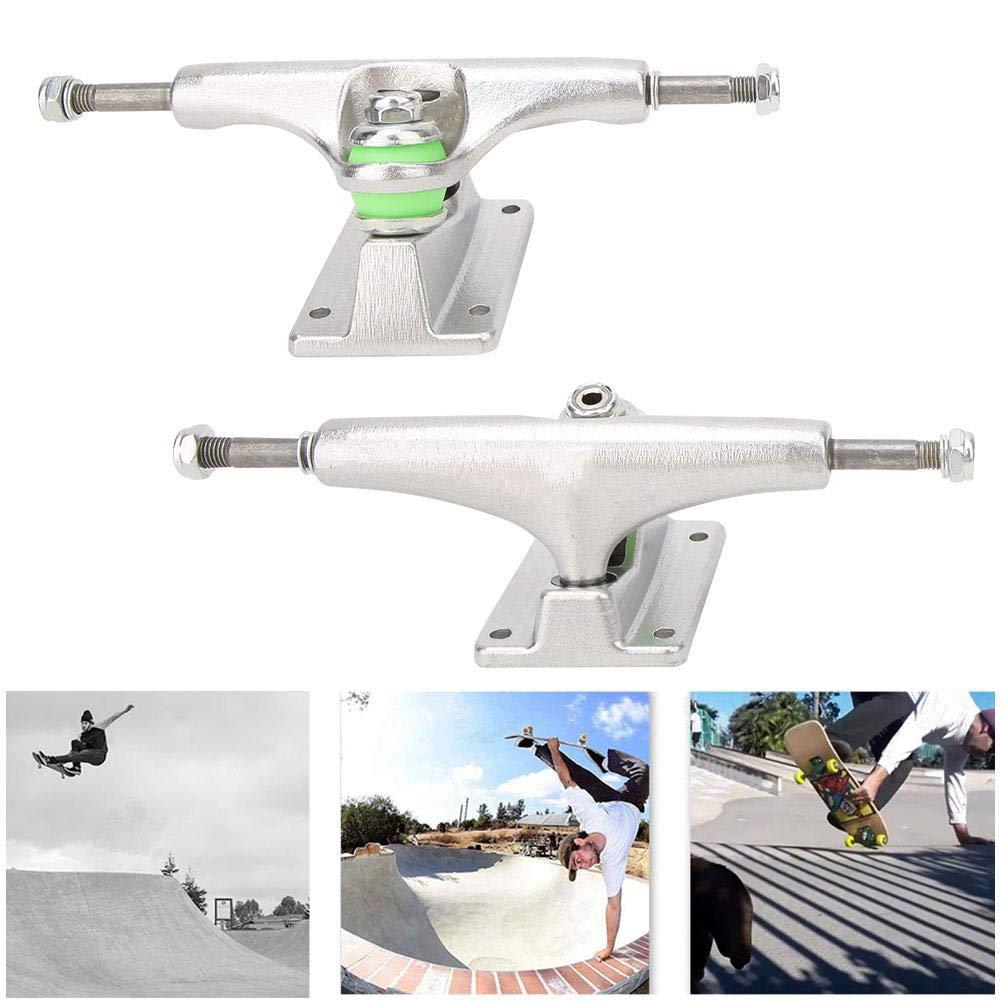 Alomejor Skateboard Trucks Independent Skateboard Trucks Silver Raw Stage 2Pcs pour Accessoire de Patin