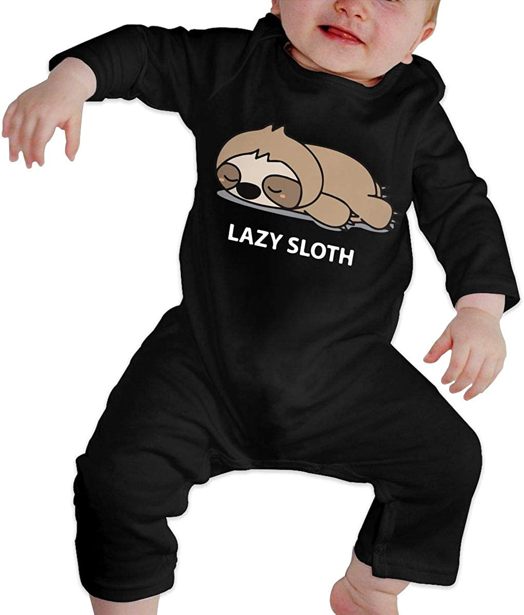 BKNGDG8Q Baby Boys Romper Jumpsuit Lazy Sloth-2 Organic One-Piece Kid Pajamas Clothes
