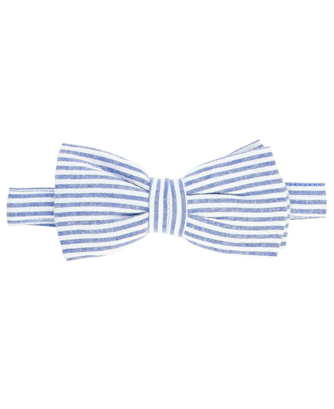 RuggedButts Little Boys Blue Seersucker Bow Tie - 2T-5