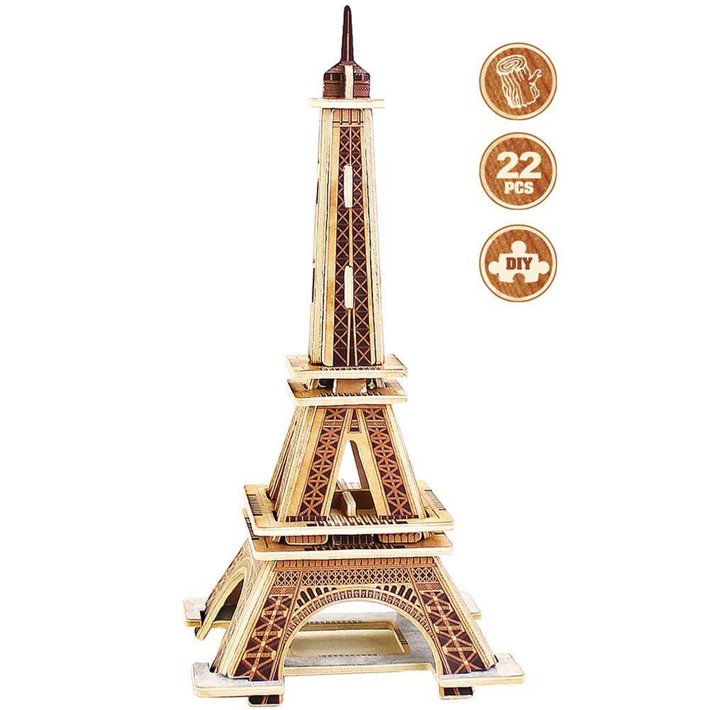 ROBUD 3Dパズル 子供用パズル 世界建築 3Dパズル B07MSK9JCN ビルディングモデルキット ジグソーパズル One Size Size Eiffel Tower Mode B07MSK9JCN, 中川区:14f3b6d2 --- m2cweb.com