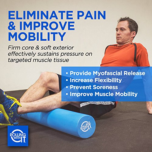 Professional Foam Roller Best Firm High Density Eco Friendly EVA Foam Rollers Perfect For Physical Therapy Best Back Roller for Muscle Therapy, Mobility & Flexibility SELECT SIZE BELOW