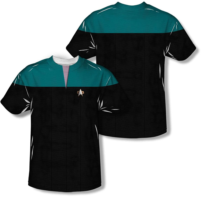 Star Trek - Mens Voyager Science Uniform (Front/Back Print) T-Shirt