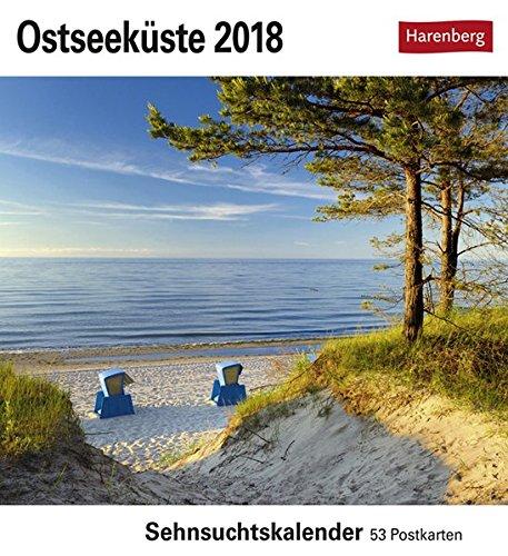 Ostseeküste - Kalender 2018: Sehnsuchtskalender, 53 Postkarten