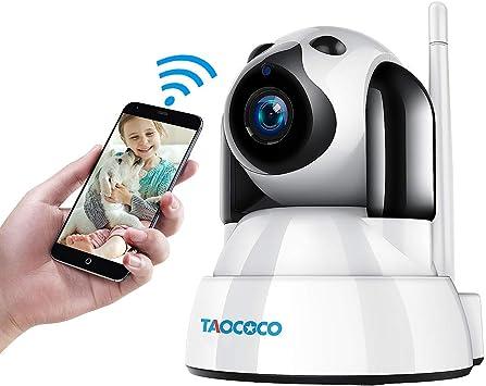 Cámara De Perro Taococococo Cámara Para Mascotas Cámara De Vigilancia Ip 1080p Fhd Cámara Domo De Seguridad Inalámbrica Para 2 4 Ghz Monitor De Bebé Para El Hogar Con Smart Pan Tilt Zoom Detección