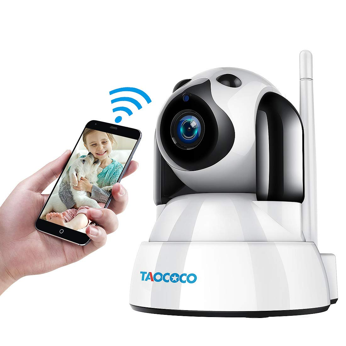 TAOCOCO Dog Pet Camera, Cat WiFi IP Camera, Wireless Surveillance Security Camera, Home Baby Monitor Nanny Cam with Smart Pan/Tilt/Zoom, Motion Detection, Two Way Talking, Infrared Night Vision