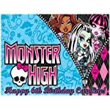 "Single Source Party Supplies - Monster High Cake Edible Icing Image #2 - 8.0"" X - 10.5"" Rectangular"