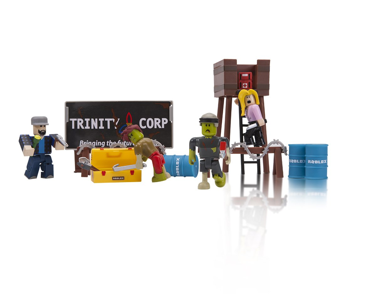 Amazoncom Roblox Zombie Attack Playset Toys Games