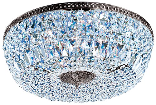 Classic Lighting 52824 MS CP Crystal Baskets Flush/Semi-Flush Mount ()