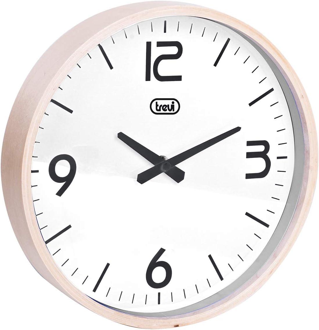 25 Bois//Plastique Trevi Om 3311/L Horloge Murale Rose