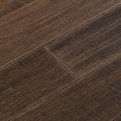 Cali Bamboo - Solid Bamboo Flooring, Dark Brown Vintage Port, Heavy Distressed - Sample