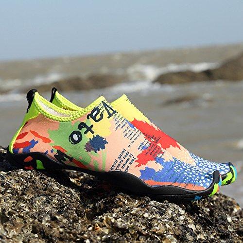 BUIMIN Chancletas Zapatillas Adolescente-Unisex Atractiva Transpirable Impresión de Mapa Para Playa Casual Moda Verano Multicolor Talla 36/37/38/39/40/41/42/43/44 (41)