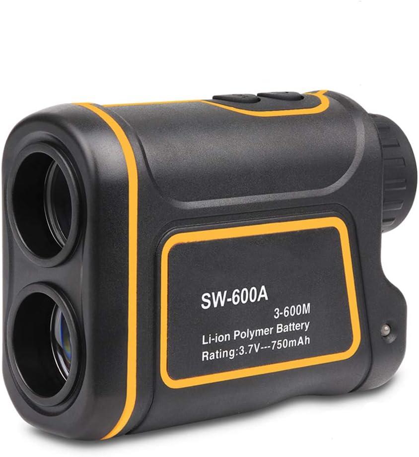 WODT Telémetro láser de Golf, 7X Ampliación Alcance 600 m Medidor de Distancia monocular Caza Telescopio Carga por USB