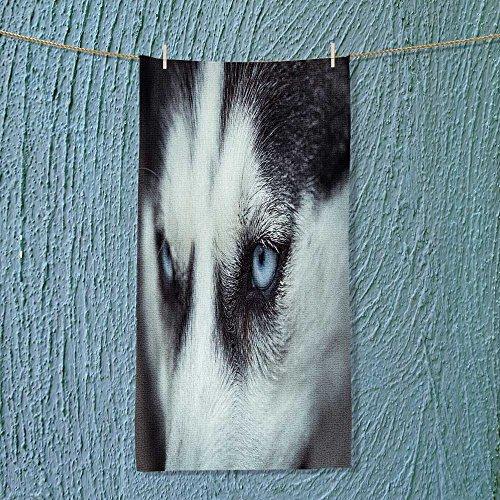 vanfanhome Custom Cotton Microfiber Ultra Soft Towels/Hand Towel,Husky eyes Unisex towels for Beach, Pool or Bath!(11.8x27.5 INCH)