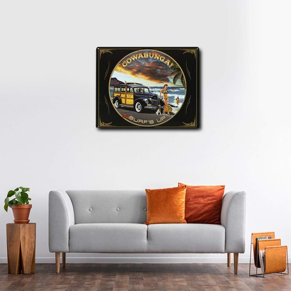 Imprints Plus Retro-Blechschild Malibu Vintage inspiriertes Metallschild komplett mit Schrauben zum Aufh/ängen in Ihrer Bar 30,5 x 38,1 cm Garage oder Restaurant