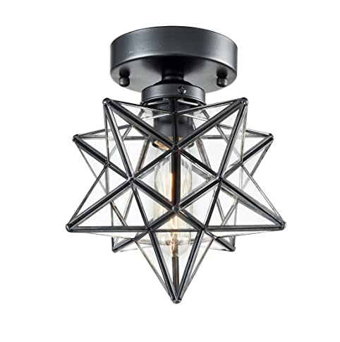 Axiland industrial moravian star ceiling light with 8 inch glass axiland industrial moravian star ceiling light with 8 inch glass shade 1 light aloadofball Images