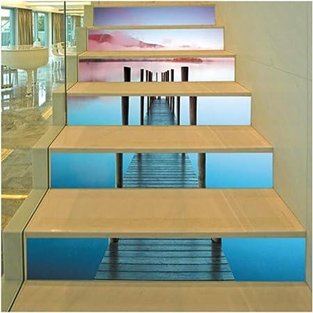 SERFGTFH 3D Pegatina Escaleras Escaleras Escalera Corredor Faraón Decoración Personalización Extraíble para La Decoración 3D: Amazon.es: Hogar