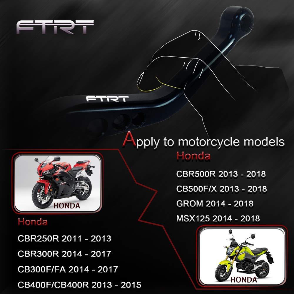 CB599//CB600 HORNET 1998-2006,CB400 2014 Leve frizione freno corto FTRT per CBR600 F2,F3,F4,F4i 1991-2007 SHADOW750 1997-2004 CB900 Hornet 2002-2006,NC700 S//X 2012-2013,Nero