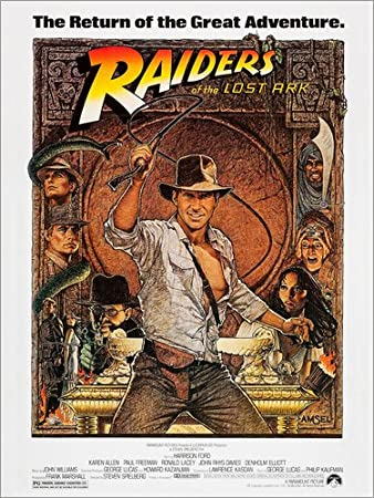 Posterlounge Alu Dibond 30 x 40 cm: Indiana Jones - Raiders of The Lost Ark di Everett Collection