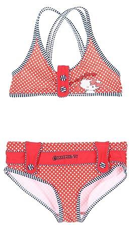 meilleure valeur couleur rapide officiel de vente chaude Charmmy Kitty Maillot de Bain brassière 2 pièces Enfant Fille 4 à 10ans