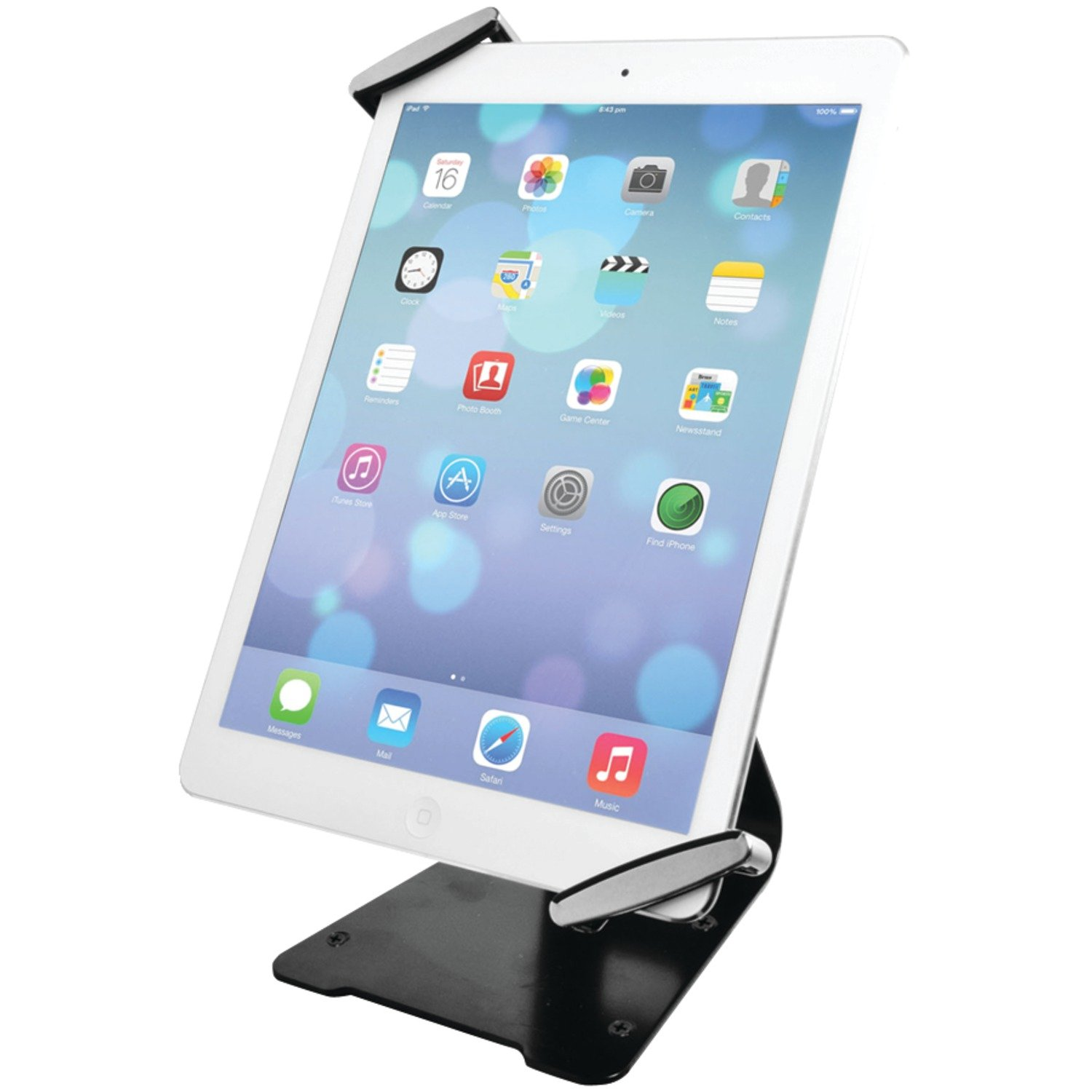 CTA Digital Universal Anti-Theft Security Grip with POS Stand for Tablets - iPad Air 2, iPad mini 4, Galaxy Tab, Note 10.1, 7–10-inch Tablets (PAD-UATGS)