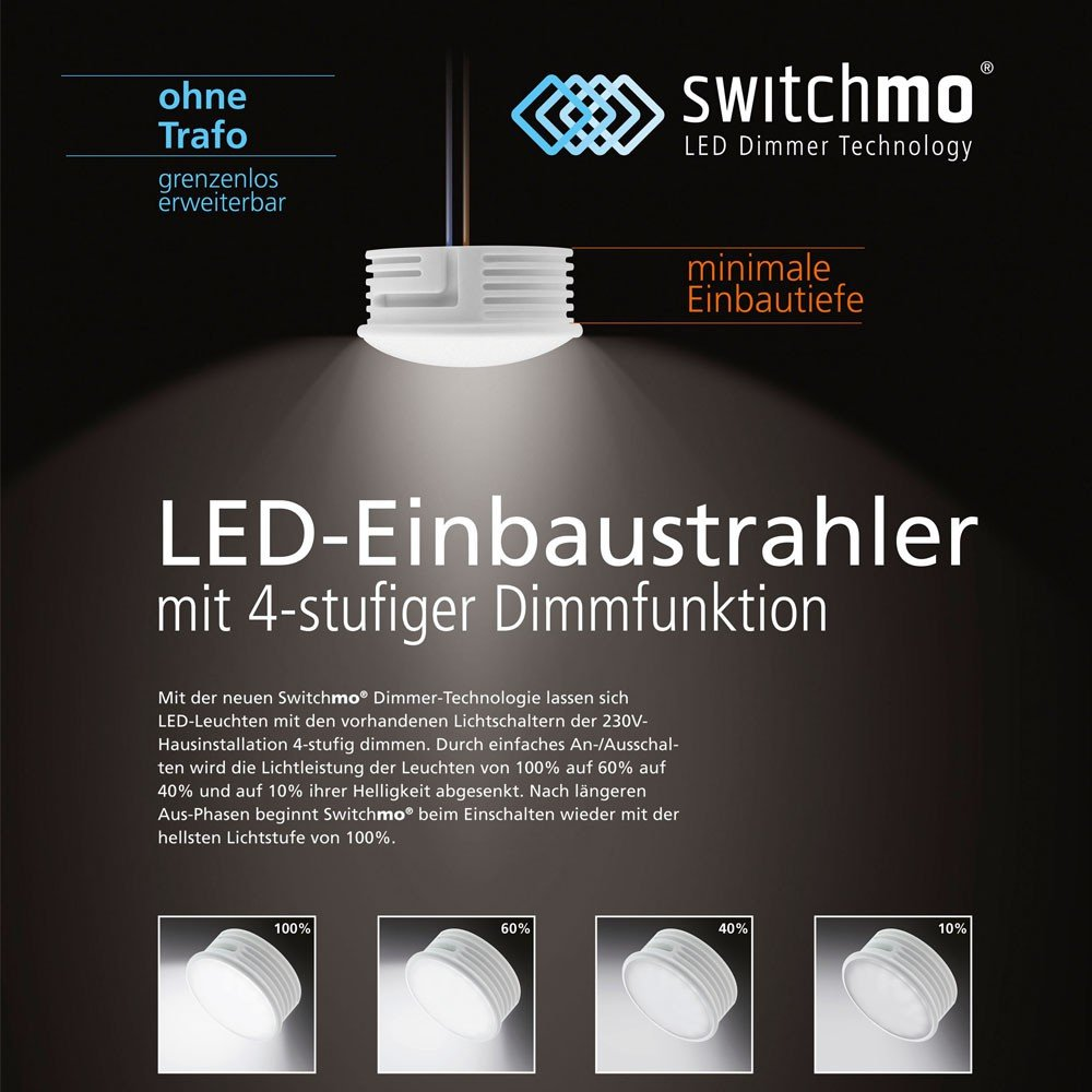 Dimmer Für Trafo Leuchten led switchmo dimmbares leuchtmittel für spots 350 lumen 5 5