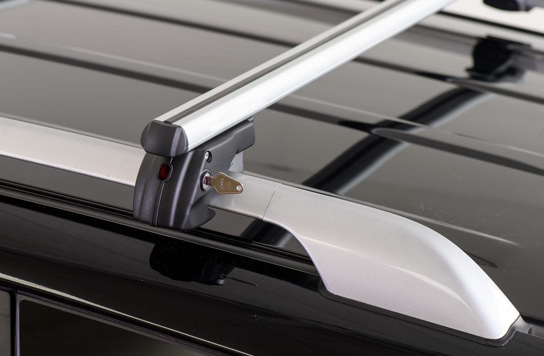 Menabo Alu Relingträger Sherman 120 Kompatibel Mit Vw Caddy Ab 2008 Dachträger Abschließbar Auto