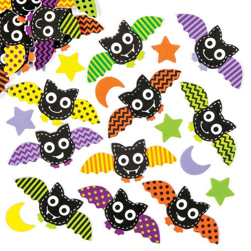 Bat Foam Stickers for Children. Make and Embellish Your Own Halloween Decorations with Craft Set of Foam Shapes (Pack of (Halloween Bats Arts And Crafts)