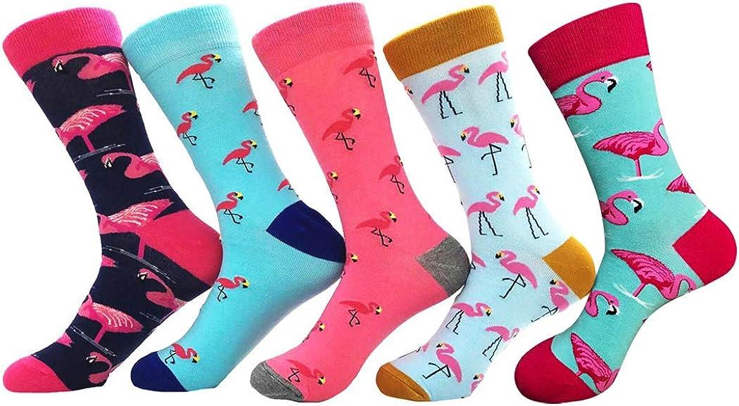 Thmyo 5 pares de calcetines modernos cómodos de algodón para mujer