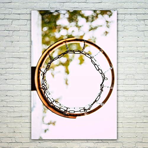 Westlake Art - Poster Print Wall Art - Basketball Ring - Modern Picture Photography Artwork Home Decor Office Birthday Gift - Unframed - 12x18 (f30 - Basketball Message Ring