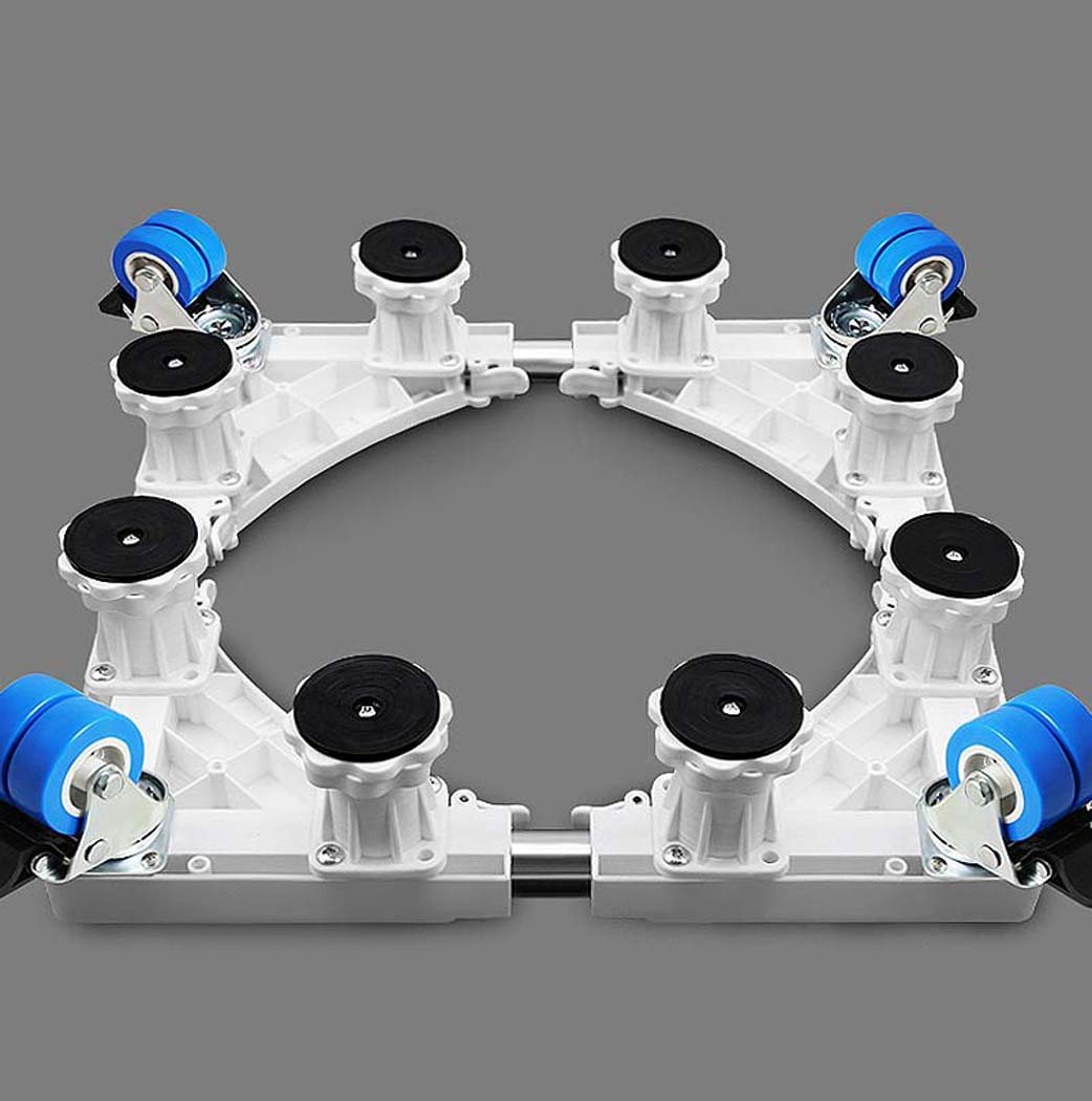 DSHBB Washing Machine Base Plate, Multi-functional Adjustable Base,Stainless Steel Bracket ,For Washing Machine Pedestal Fridge Base Rack。 (Color : Gray)