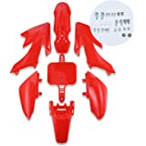 CLEO Plastic Fender Fairing Body Work Kit Set,Plastic Body Fender Kit 7 piece for CRF50 Chinese Mini Dirt Bikes