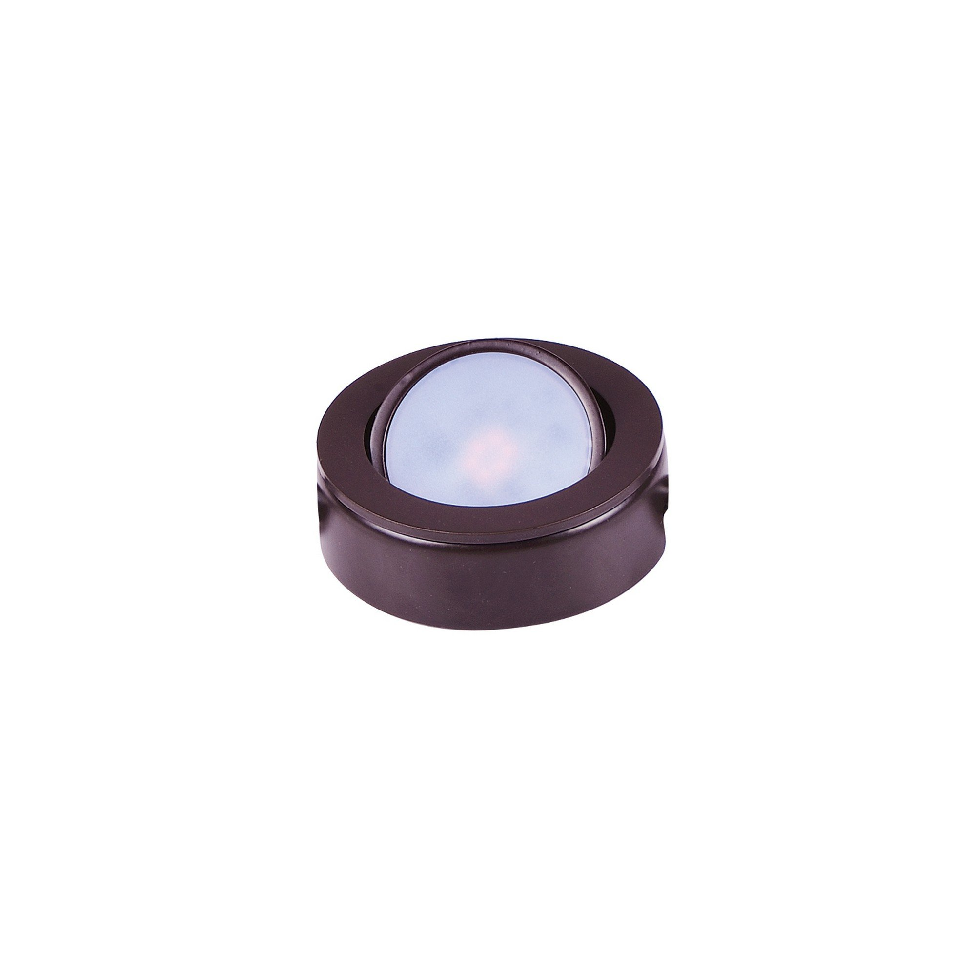 Maxim 53830BRZ CounterMax MX-LD-AC LED Puck 2700K and 3000K, Anodized Bronze Finish, Glass, PCB LED Bulb, 40W Max, Dry Safety Rating, Standard Dimmable, Shade Material, Rated Lumens
