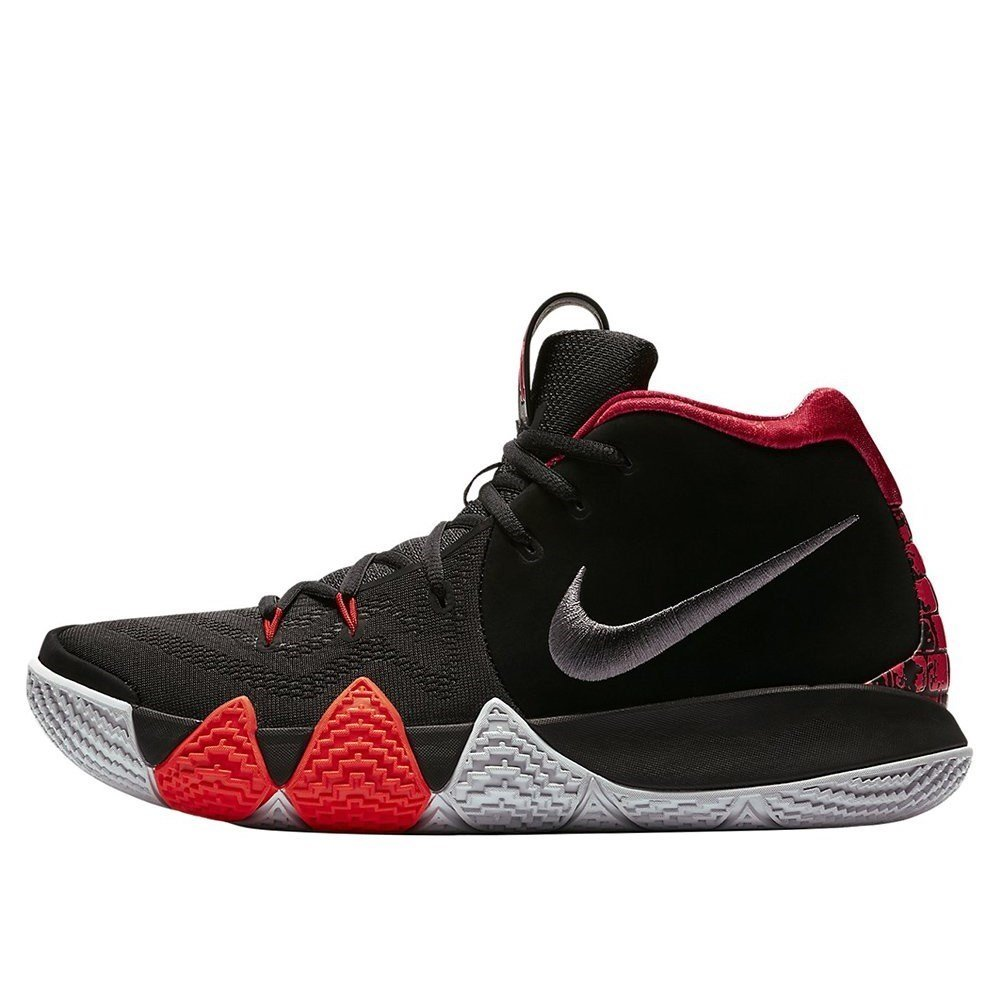 NIKE Men's Kyrie 4 Basketball Shoes B07DLF6TG3 15 D(M) US Black/Red/Grey