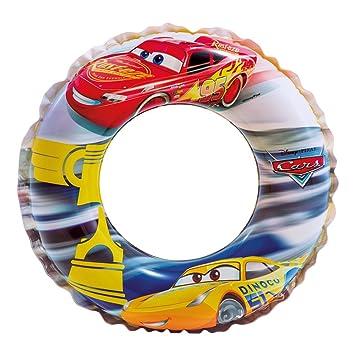 Intex Cars - Flotador hinchable para niños de 3 a 6 años, diámetro flotador: 51 cm