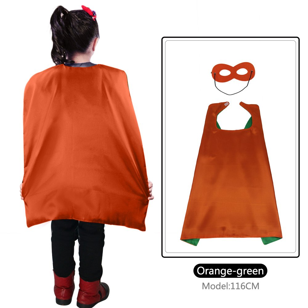 70 cm X 70 cm Kinder Superhero Kostü me beidseitig Satin Umhang und Maske fü r Mä dchen Fancy Dress Up jede Party gefallen Special ABC Party