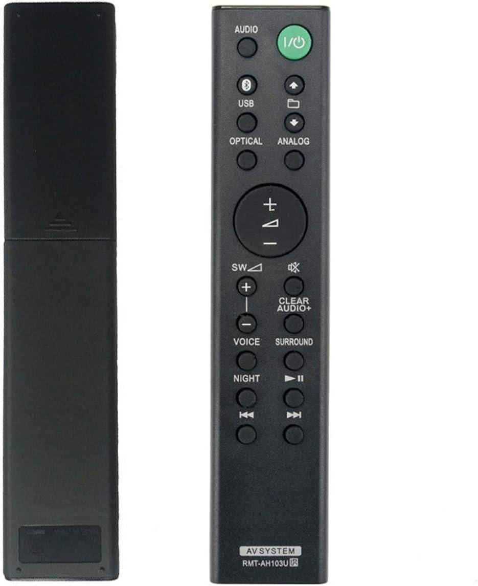 Leyee Mando a Distancia de Repuesto Rmt-Ah103u para Sony Sound Bar Ht-Ct80 Sa-Ct80 Htct80 Sact80 Negro