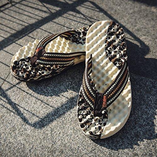 Chancletas Moda Playa Zapatillas de Hombre de Marrón Suave Cómodo Zapatos de Sandalias 8I0IwqZa