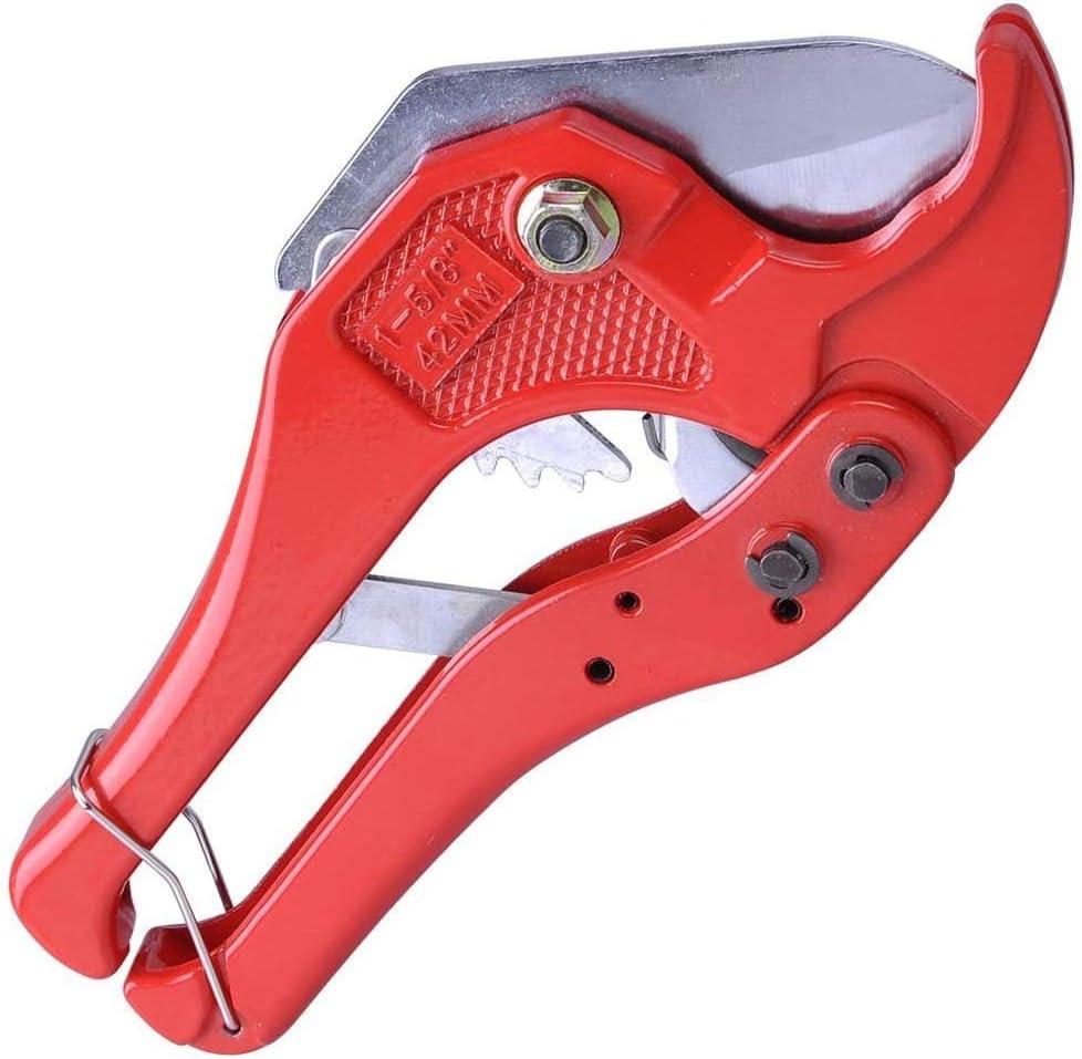 ADGO - Cortatubos y tubo de 0 – 42 mm PEX PE PP PVC PPR tijeras de corte para tubos de plástico y tuberías para trabajos domésticos e instaladores