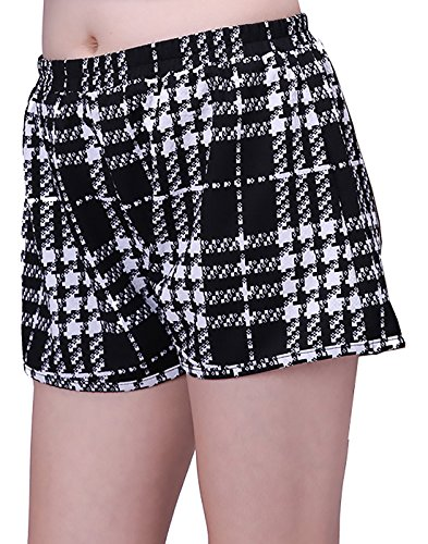 HDE-Womens-Plus-Size-Shorts-Patterned-Casual-Pull-On-Elastic-Waist-Dress-Shorts