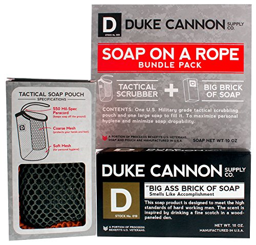 Amazon.com : Duke Cannon Soap On A Rope Bundle Pack: Tactical ...