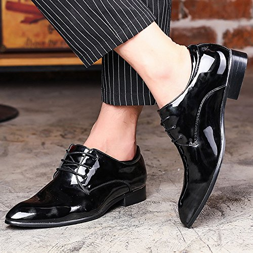Up pittura Scarpe Estate da Oxford Nero formale foderato shoes 39 Lace Rosso liscia liscia Dimensione Color Top Low pelle uomo Primavera astratta affari 2018 EU classica Fang in HqnvAZH