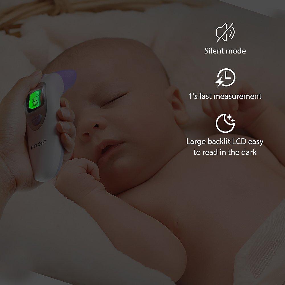 Termómetro Digital Frente y Oído, HYLOGY Termómetro Infrarrojo Médico apto Pare Bebés y Adultos con Certifica FDA CE: Amazon.es: Salud y cuidado personal