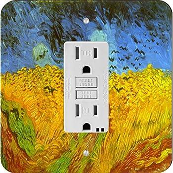 Rikki Knight Van Gogh Irises Single Outlet Plate