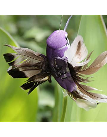 2 pzs de colibrí volador con energía solar, divertido y hermoso pájaros voladores solares para