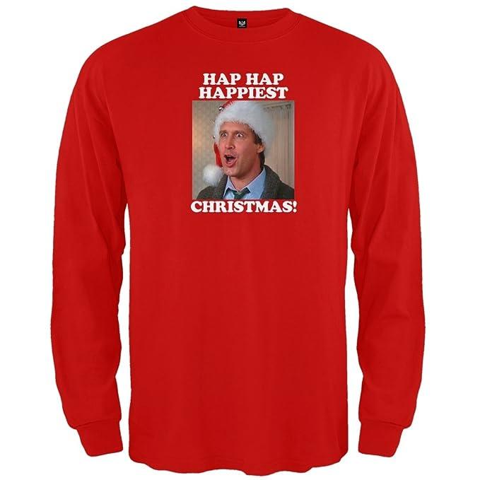 christmas vacation hap hap happiest long sleeve small grey - Hap Hap Happiest Christmas