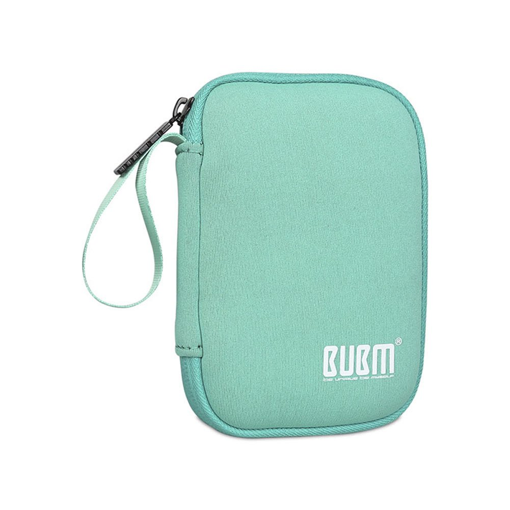 BUBM Enclosure 2.5'' USB 3.0 Hard Drive Bag Power Bank Portable Charge Travel Case, 5.9'', Powder Blue (QYD-S-01)