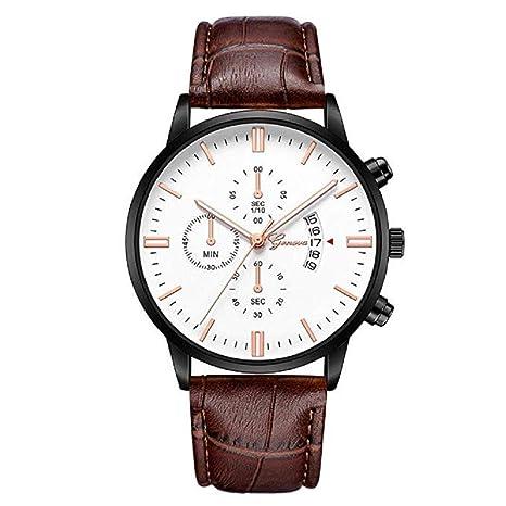 Scpink Reloj de moda para hombre, reloj de pulsera de cuarzo para amantes de la