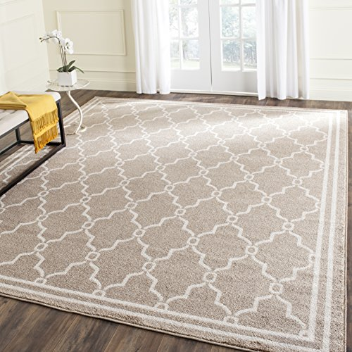 Safavieh Amherst Collection AMT414S Wheat and Beige Indoor/ Outdoor Square Area Rug (5' Square) ()